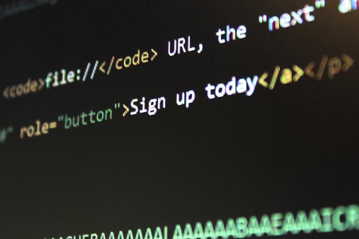 computer monitor showing text editor screengrab