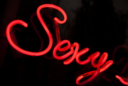 red sexy neon signage