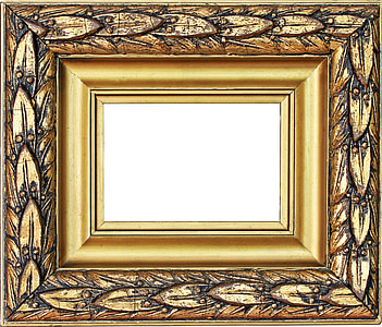 photo of brown photo frame
