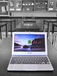 Samsung laptop computer on table