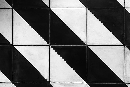 white and black striped tiles