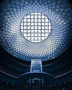 round white and black architectural design