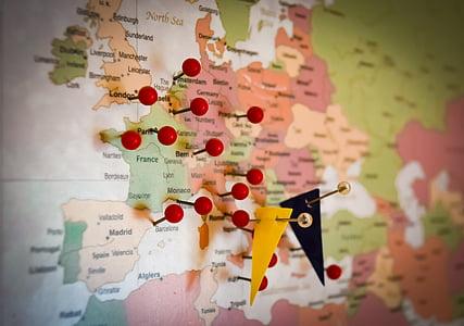 multicolored map