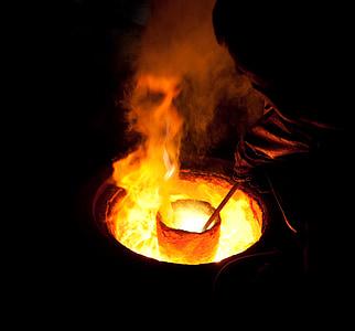 fire on firepit