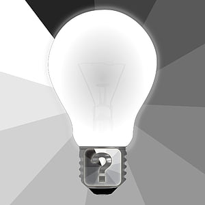 white light bulb illustration