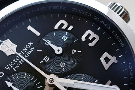 round black Victorinox chronograph watch