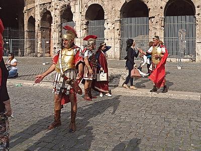 Gladiator on street