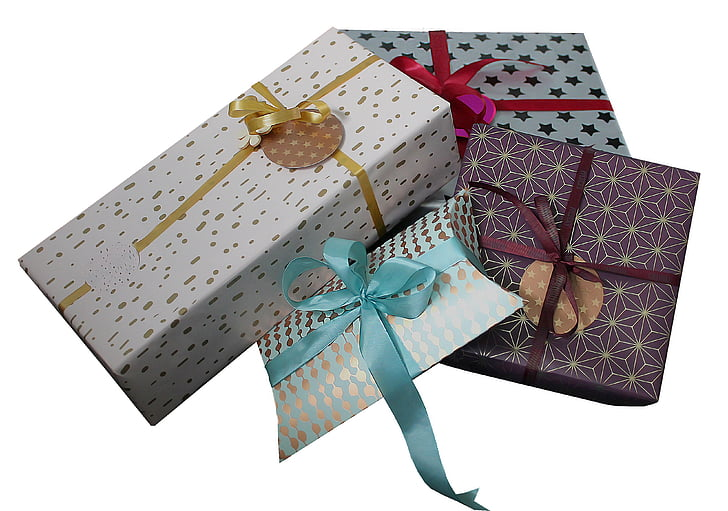 photo of four gift boxes