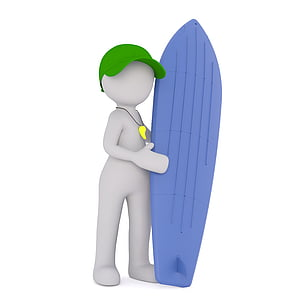 person holding surfboard animated photo