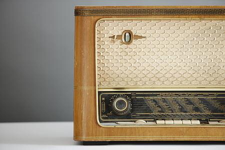 transistor radio on white surface