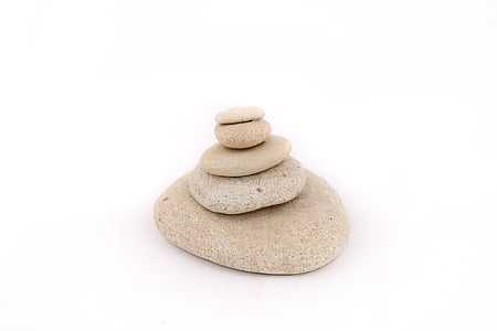 brown balancing stones