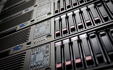 closeup photo of computer tower