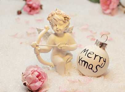love angel, angel, amor, merry xmas, figure, symbolism
