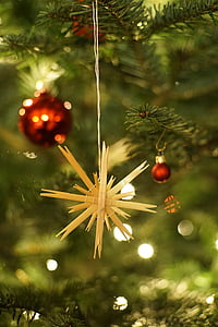 shallow focus photo of brown star hanging decor