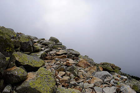 top view of rock cliff