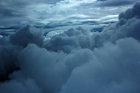 bird's eye view photo of clouds