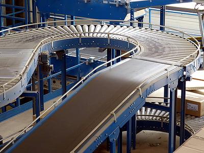 gray conveyor machine