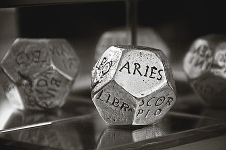 grey stainless steel dice