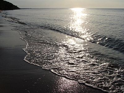 sea waves in beach