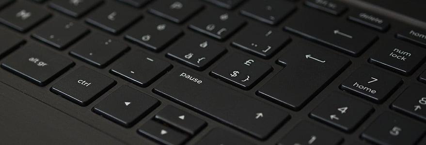 close shot of black computer keyboard