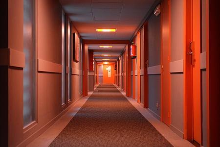 lighted hallway