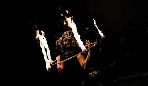 woman fire dance