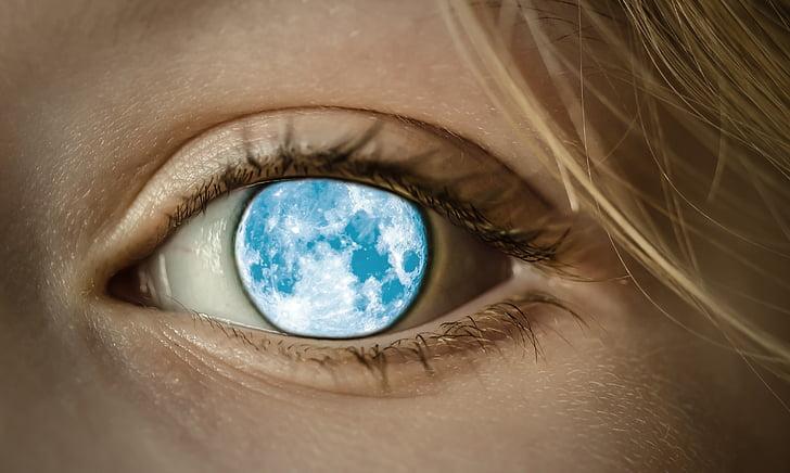 human blue moon eye ]