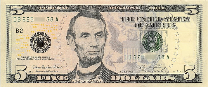 5 U.S. dollar banknote