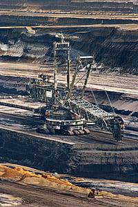 a large white mining vehicle