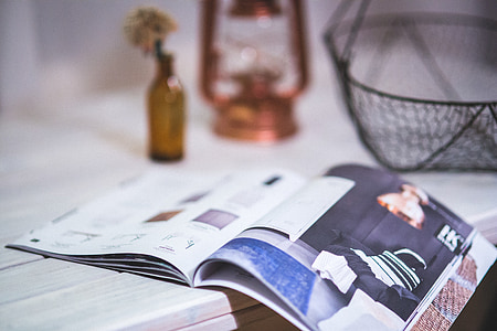 open white magazine