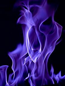 purple flame illustration