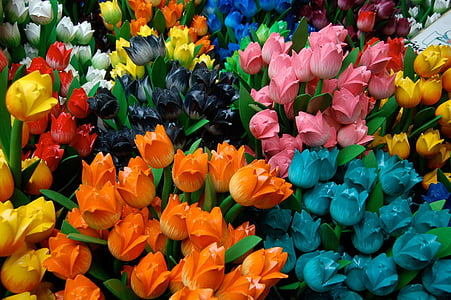 assorted-colored artificial flowers
