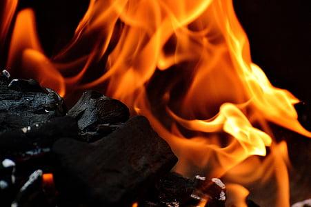 close up photo of charcoal burning