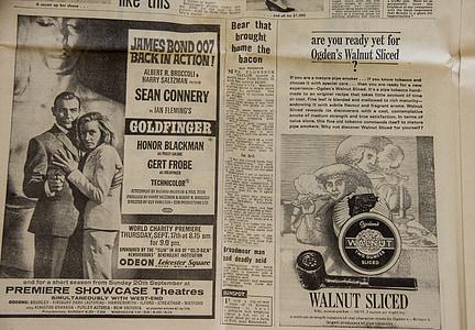 James Bond 007 back in action newspaper article