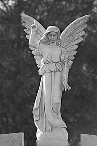 woman with wings statue
