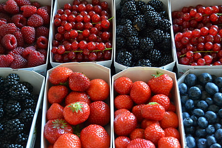 box of assorted-type of berries