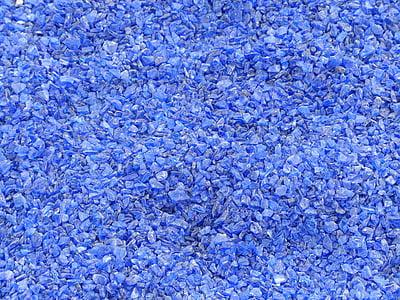 blue stone fragments