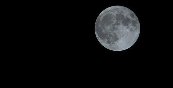 photography of full moon