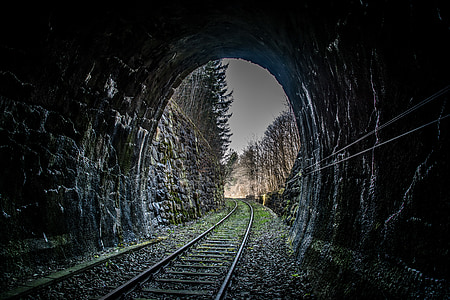 dark stone tunnel