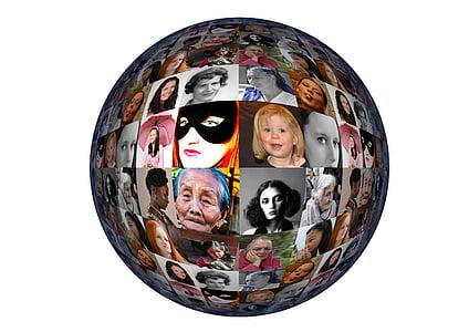 round portrait globe decor