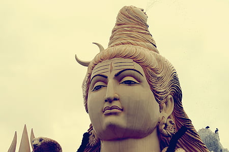 closeup of Lord Shiva statue