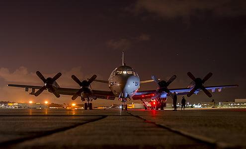 airplane on helipad