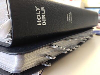Holy Bible on white board