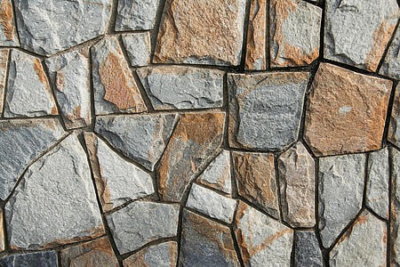 brown and gray paver brick