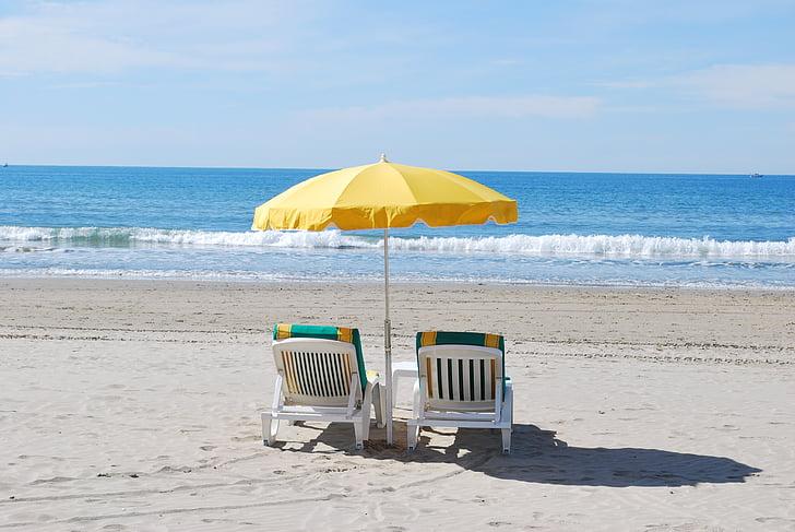 Adirondack Chairs On The Beach