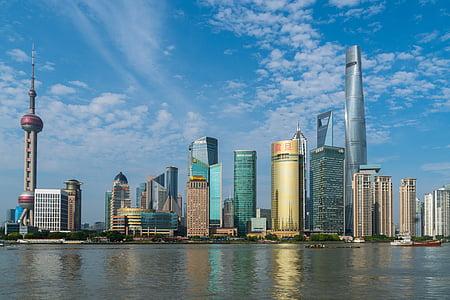 Shanghai, China skyscraper