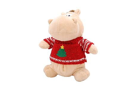 white hippo plush toy