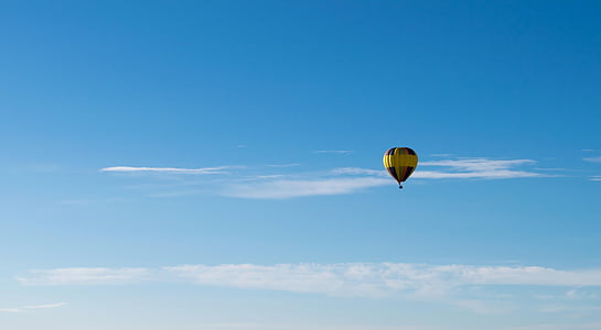 hot air balloon on mid air
