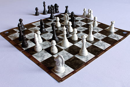 panoramic photography of chessboard with checkers