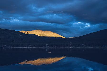 mirror photo of mountain